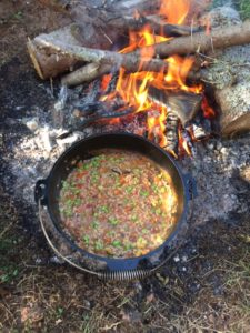 Campfire risotto - finished product!